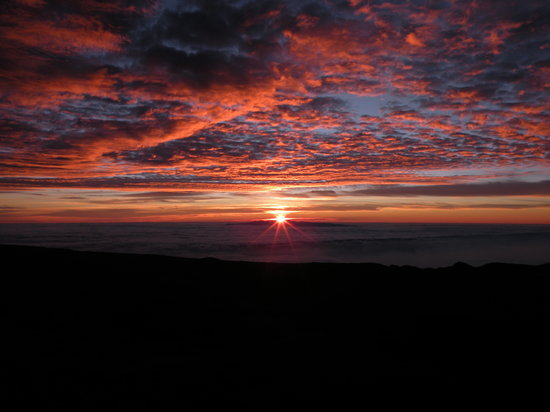 Teide National Park, İspanya: sunrise