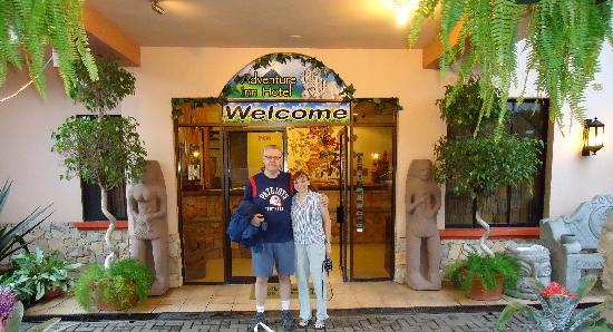 Adventure Inn: Outside the front door