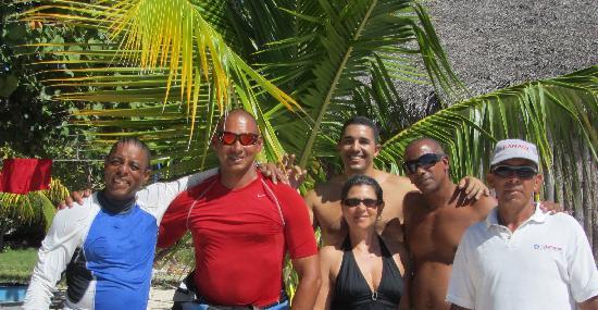 Club Amigo Carisol Los Corales: Frank, Ernesto, William, Sergio, Orlando  (Celso had a day off)