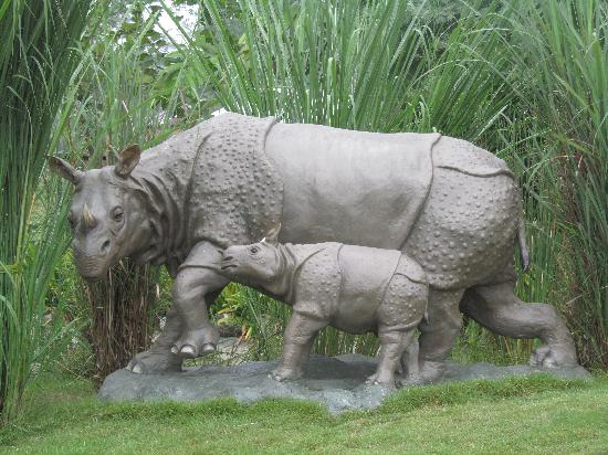Jaldapara Tourist Lodge: Model of Rhino- one of the many beautiful models