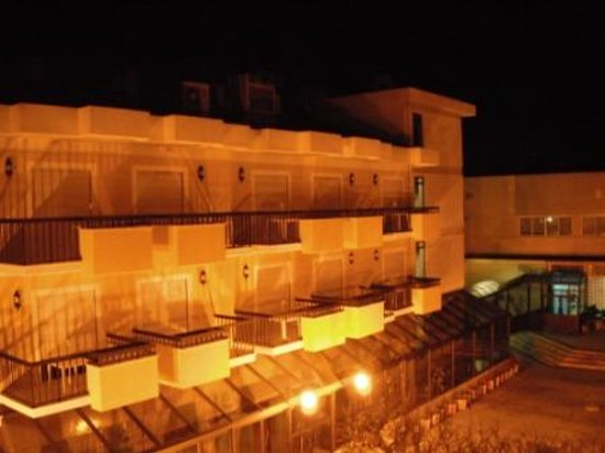 Hotel D. Afonso: Night view from our balcony