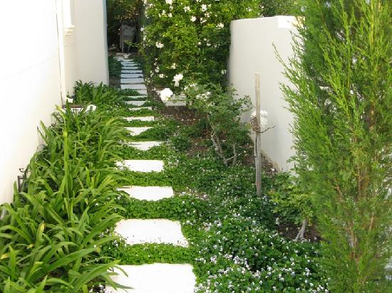 Maison d'Ail Guest House: Stepping stones in the garden