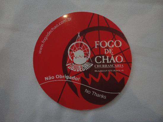 Fogo De Chao: logo di attivazione alla fornitura piatti