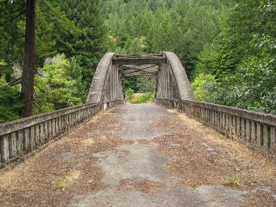 Rio Dell, Калифорния: abandaned Van Duzan river bridge 2011