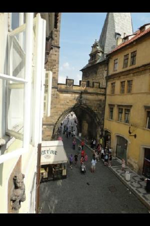 Charles Bridge Economic Hostel: view from our bedroom window, the Charles bridge amazing!!