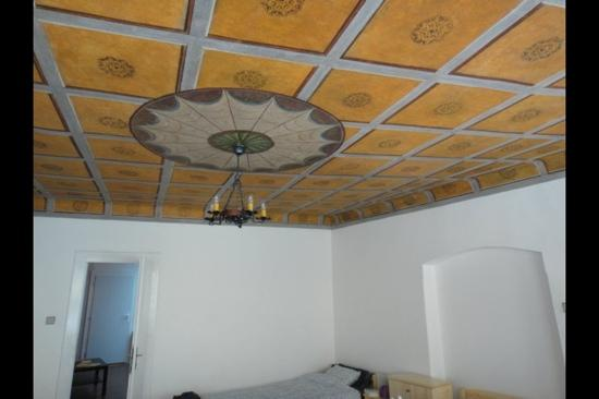 Charles Bridge Economic Hostel: our bedroom ceiling!!