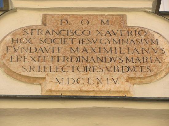 Kurfurst Maximilian Gymnasium: inscription