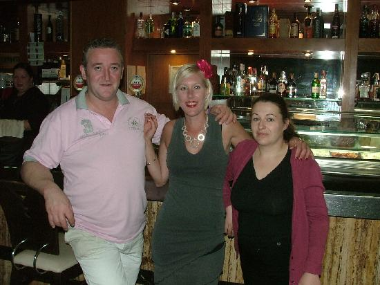 Albox, Spain: My wife with Harvey the chef and his wife