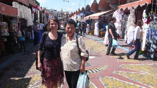Mercado el Parian: Am Eingang des Marktes