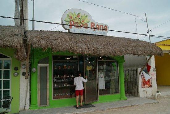 Papa Rana Holbox Logo Shop