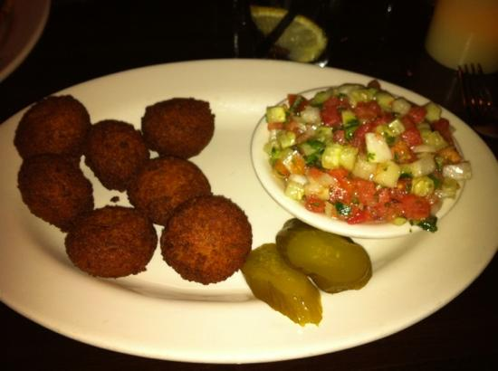Falafel Bistro and Wine Bar: Falafel with Salad