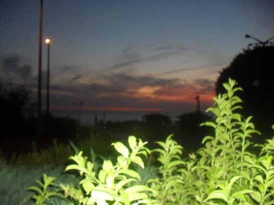 Kleopatra Beach Hotel: sunset from the dining veranda