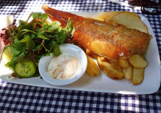 The Waterberry Tea Garden: Sole and chips