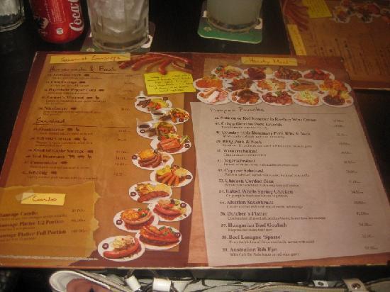Weissbrau Bistro & Bar : menu