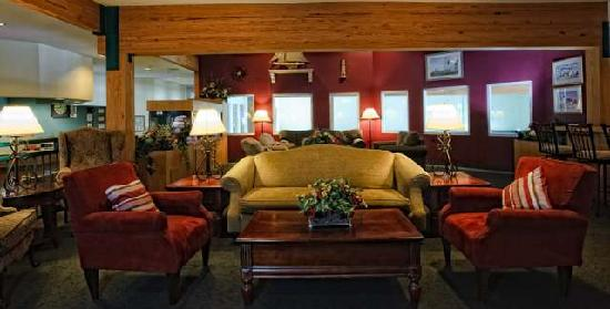 Cove of Lake Geneva: Relax in our lounge ... with free wi-fi and a bar!