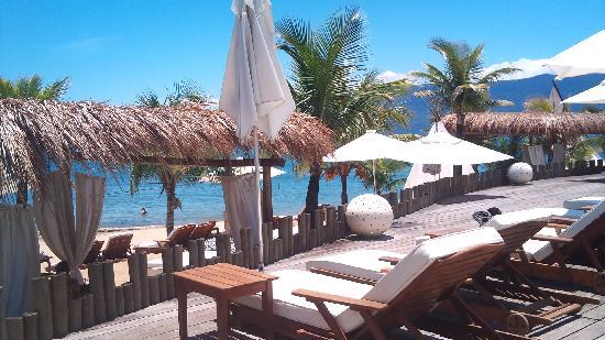 DPNY Beach Hotel & Spa: Olhando o mar enquanto descansa na piscina