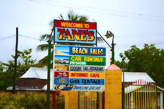 Janes Beach Fales: Signage