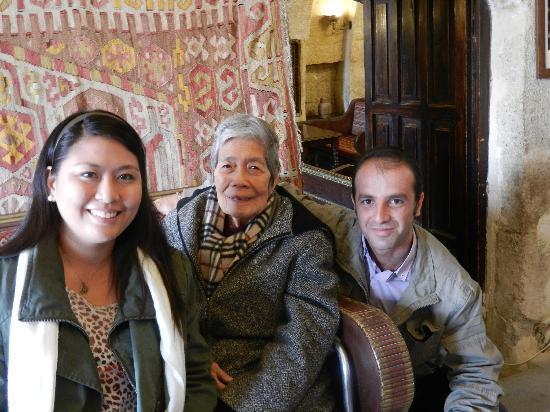 Cappadocia Palace: me, grandma, and mr.mustafa