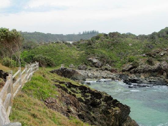 Port Pacific Resort: Walk track south of town overlooking beaches