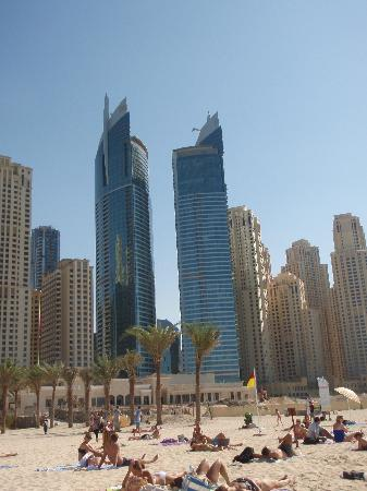 JA Oasis Beach Tower: View from the beach