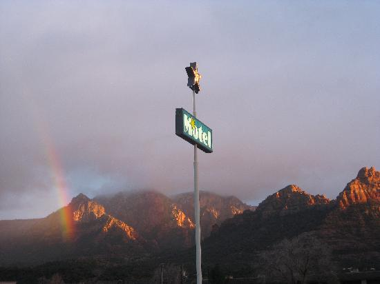 Star Motel sign, at the end of the rainbow