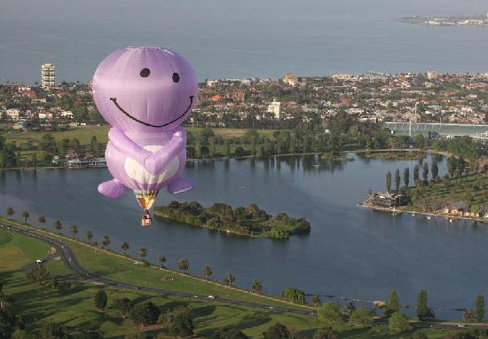 Picture This Ballooning - Melbourne and Yarra Valley: Special shapes are great for advertising & brand awareness