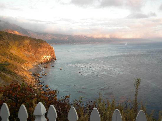 Looking south at Lucia Lodge at Big Sur