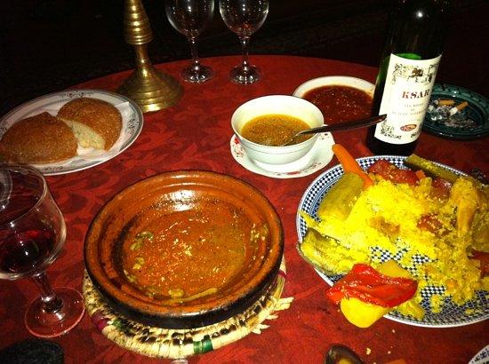 Les Jardins de Bala: food