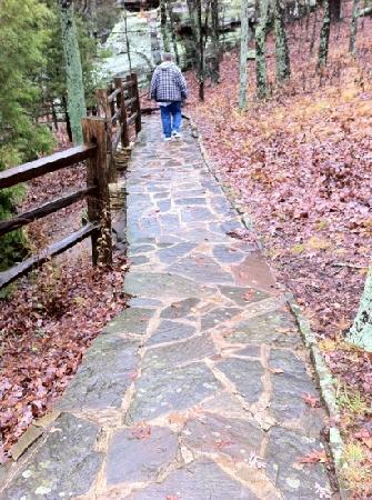Harrisburg, IL: Flagstone path on trail