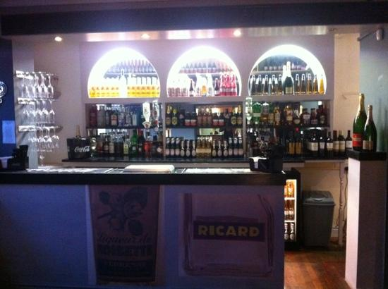 The Original French Bistro: the bar area