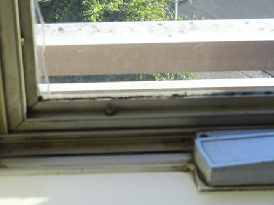Mercure North Melbourne: Dirty Window Sill