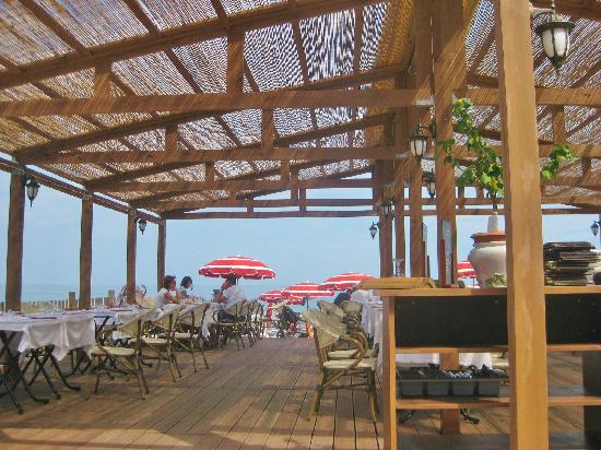 Residence Goelia Royal Cap: le bar restaurant de la plage