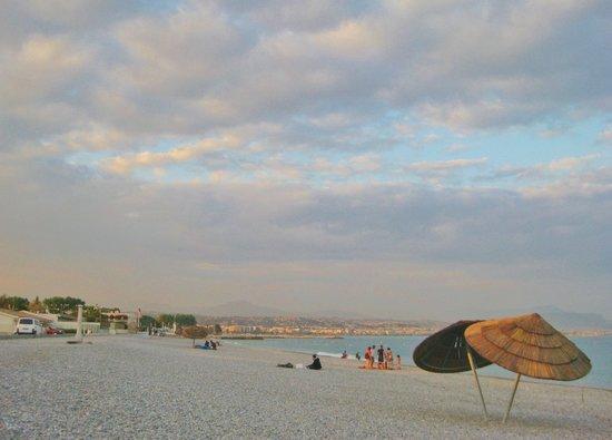 Villeneuve-Loubet, Francia: la plage en fin de journée