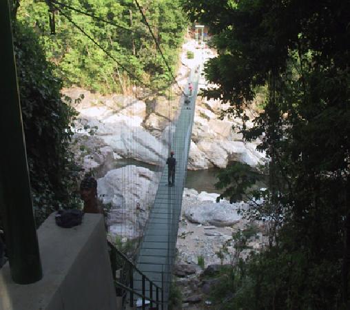 La Villa de Soledad B&B: Bridge access to hiking in the jungle