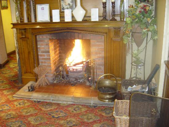 Sutton-on-Sea, UK: Lounge bar fire