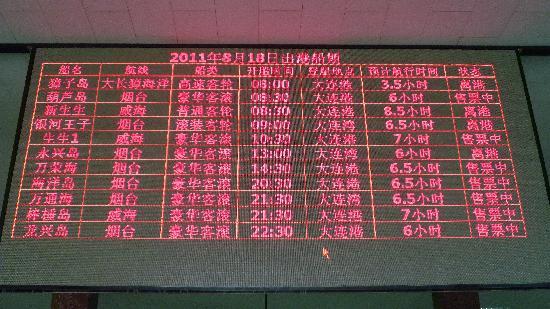 Dalian Port: 出航時刻表