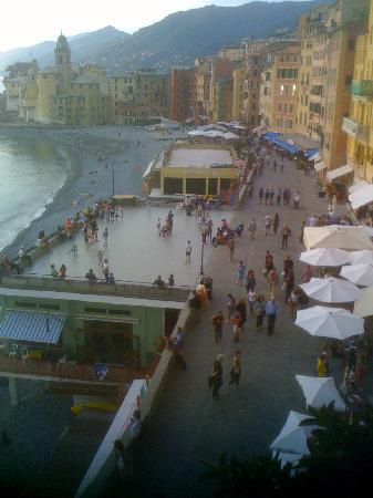 Hotel Casmona: View of promenade from terrace of Rm 301