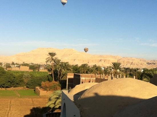 Cleopatra Hotel Luxor: view from hotel Terrace