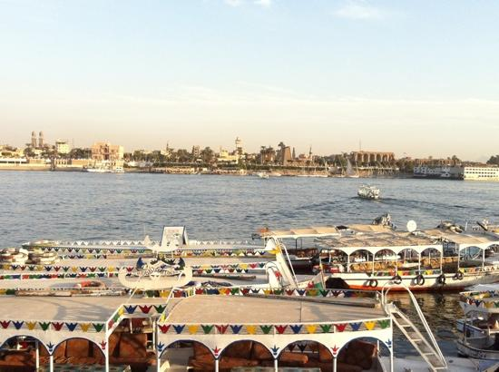 Cleopatra Hotel Luxor: About to cross to the East bank from the West Bank of the Nile!