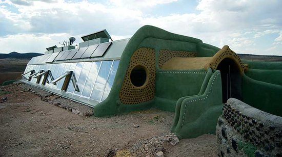 Earthship Biotecture: G2 Global Model 2 bedroom Fully Furnished Earthship.