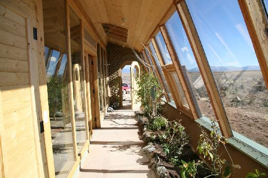 Earthship Biotecture: Lone Tree 1 bedroom Fully Furnished Earthship.