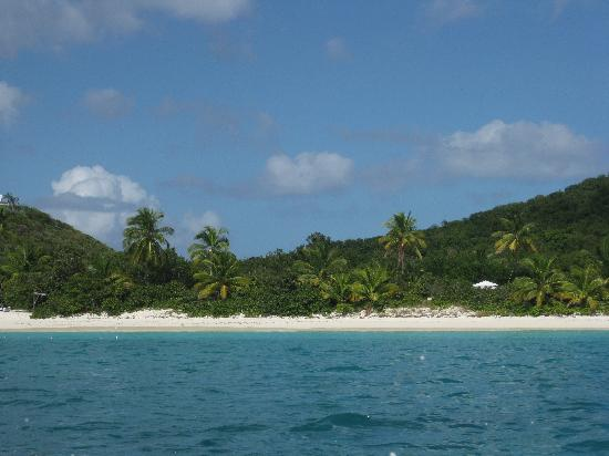 Guana Island: the first view of the beach
