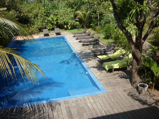 Sambor Village: the pool, taken from the restaurant