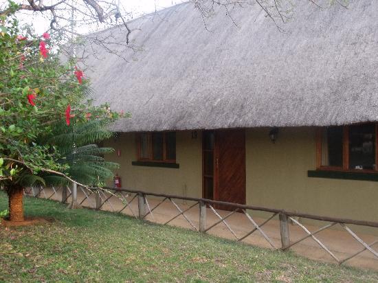 Kubu Safari Lodge: Unser Zimmer von außen