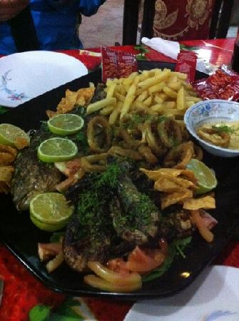 Bedouin Moon Village: seafood platter (could be for three ppl)