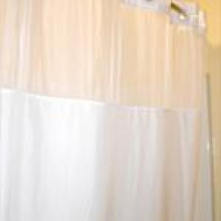 Budget Host Inn: Curved Shower Rod with Waterpik Massage Showerhead