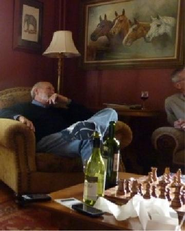 Gillespie House Inn : relaxing in the downstairs study