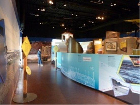 Parrsboro, كندا: the interior of the geological museum