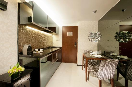 Pantry Area Of One Bedroom Suite Picture Of Citadines Mercer Hong
