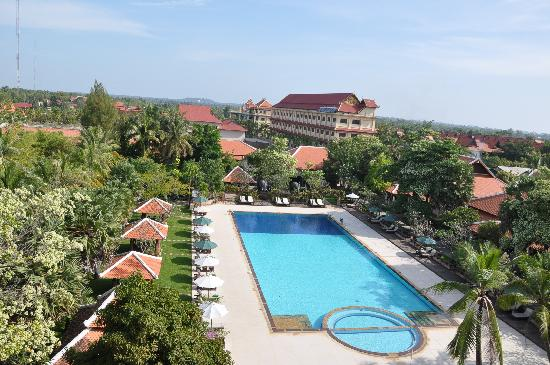 Royal Angkor Resort & Spa: The view from the balcony